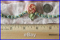 10 French c1910 Antique Silk Ribbonwork Rosettes Never UsedL-31