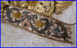 17th Century Embroidery Embroidered Silk Flowers Metallic Needlework