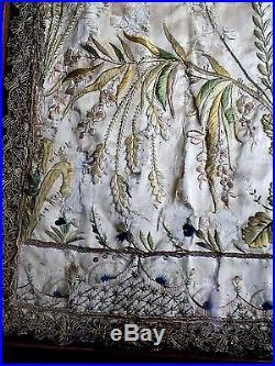 17thC Antique Embroidery Stumpwork Lamb of God Silk Picture Religion Agnus Dei