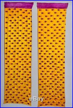 1850 Antique India Silk Shawl Phulkari Embroidery Tapestry Gujarat Panel Paisley