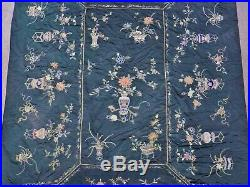 300cm 200cm INCREDIBLE Chinese Antique Silk Tapestry Forbidden Stitch Embroidery