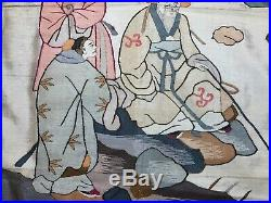 ANTIQUE EARLY 20th c CHINESE SILK KESI TAPESTRY EMBROIDERED EMBROIDERY 92 x 52cm