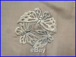 Antique Chinese Embroidered Silk Robe Superb Butterfly Embroidery As Found