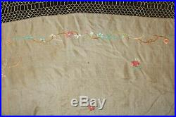 Antique Embroidered Silk Piano Shawl