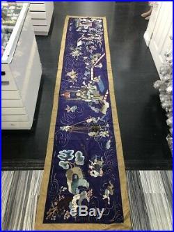 Antique Japanese silk embroidery panel 350cm x 75cm