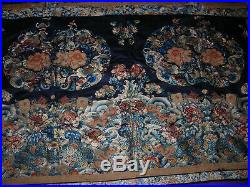 Antique Qing Dynasty Blind Stitch Chinese Silk Embroidery Textile Tapestry 42x52