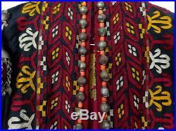 Antique Turkmenistan Tekke Tribe Silk Embroidered Womans Coat