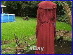 Antique Victorian Museum Hand Made With Embroidery Velvet Silk As Is Long Dress