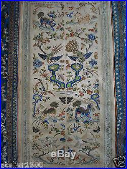 Antique Chinese Silk Silk Embroidery Sleeve Bands Bat