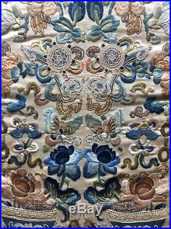 Beautiful Chinese Silk Embroidery Peking Forbidden Stitches Imperial Antique