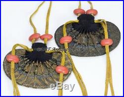 Chinese Antique Qing Dynasty Silk Embroidery Purse