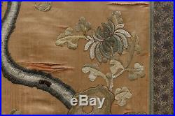 Chinese Silk Embroidery 19th Antique Large Piece Of Art