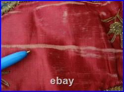 Embroidery Oriental Velvet Silk And Yarn Metal Tablecover Or Wall Hanging