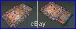 Fine Chinese 18th19th Century Qing Dynasty Silk Embroidery Two Warriors