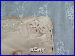 French Antqiue c1892 Hand Painted Cupids Silk & Lace Lingerie CaseSigned9X14