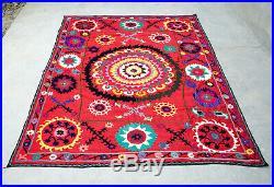 Gorgeous suzani wall hanging Vintage silk embroidery suzani blanket suzani bed