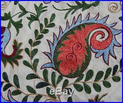 Hook Work Suzani Uzbek Hand Embroidery Silk On Cotton Suzani Of Nurota Ma-131