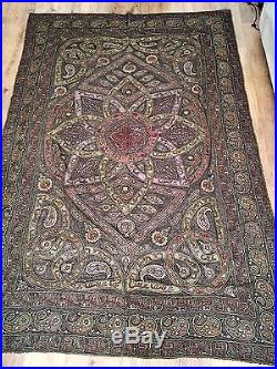 Islamic Turkish Ottoman Silk Embroidery With Tugra & Arabic Calligraphy 3m X2m