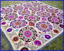 Large Suzani wall hanging Vintage Uzbek silk suzani bedding suzani best fabric