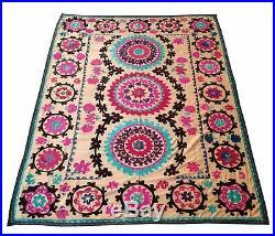 Large Uzbek Vintage Hand Embroidery Gift Wall Hanging Suzani SALE WAS $399.00