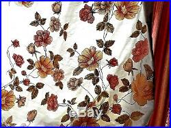 Large meterage of pure silk embroidered fabric suitable upholstery and others