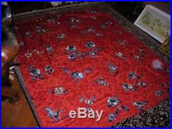 Lovely Extra Large Vintage/antique Chinese Silk Embroidery Tapestry 5.3x6.5