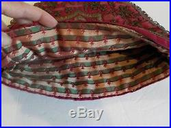 Mid-19th C. French Metallic Thread Needlework Tea Cozy