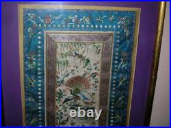 Sale! Exquisite Pair Of Antique Chinese Silk Textiles, Embroideries, Tapestries