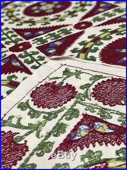 Sale! Hand Embroidered Wall Hanging Uzbek Silk Suzani Vintage Embroidery