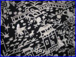 Stunning Antique Chinese Silk Piano Shawl 51x56 Must C