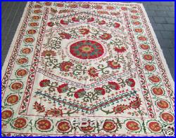 Suzani Silk On Cotton Hand Made Embroidery