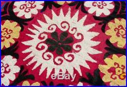 Suzani rug wall hanging Vintage Uzbek silk suzani bedding suzani fabric suzani