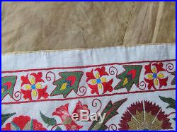 Uzbek Silk Hand Made- Embroidered Suzani
