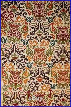 Uzbek silk handmade embroidery suzani Bukhara ottoman european