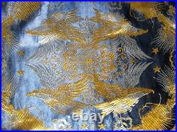 Vintage Chinese Silk Brocade Embroidery Tablecloth