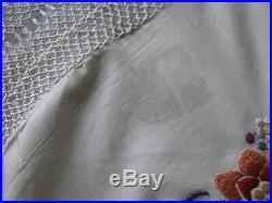 Vintage Edwardian Chinese Silk Embroidered Shawl