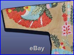 Vintage Gorgeous Uzbek Ottoman Silk Embroidered Robe From Bukhara T678