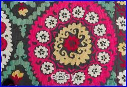 Vintage Suzani rug wall hanging Uzbek silk handmade embroidery suzani upholstery